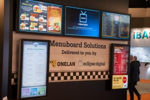 Here a digital media board is being used at a restaurant.